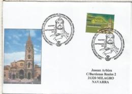CAMINO DE SANTIAGO DEL NORTE PRIMITIVO MAT PRIMER DIA CATEDRAL DE OVIEDO ASTURIAS - 1931-Hoy: 2ª República - ... Juan Carlos I