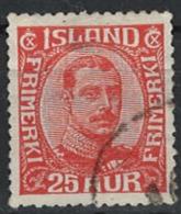 Iceland Island 1921. Mi 102, Used O - 1918-1944 Unabhängige Verwaltung