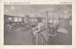 Nederland - 1930 - Rotterdamsche Lloyd - S.S. INSULINDE - Rookzaal 2e Klasse - Dampfer