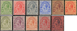 1913-1916 Turks & Caicos Islands #25-35, Complete Set(11) - Turks And Caicos