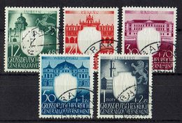 Generalgouvernement 1943 // Mi. 105/109 O - Occupation 1938-45