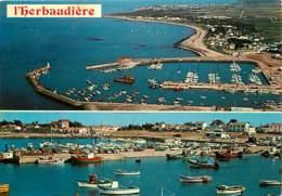 85 - Ile De Noirmoutier - L'Herbaudière - Multivues - Bateaux - Automobiles - Voir Scans Recto-Verso - Ile De Noirmoutier