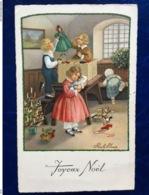 "Cpa--""Noël-scène Avec Poupées""--Pauli Ebner (my Ref PE63)-1931 - Ebner, Pauli"