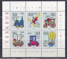 DDR Kleine Verzameling 1980 Nr 2224/29 **, Zeer Mooi Lot Krt 4194 - Collections (without Album)