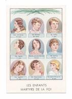 Les Enfants Martyrs De La Foi, Christine, Siméon, Celse, Agnès, Eulalie De Merida, Cyrille, Agathe, Tharcisius. Phoscao - Andachtsbilder