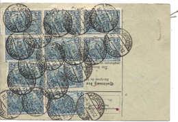 DR Paketkarte 10 X 2 MARK + 2 X 75 Pf = 21.50 Mark, 25.10.19 Hettstedt Nach Schweiz Suisse. Hütte Gottesbelohnung - Germany