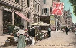 GENEVE - Marché Aux Fleurs - Place Du Molard - - GE Genève