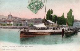 GENEVE - La Rade Au Quai Du Mont Blanc - - GE Genève