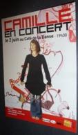 """Carte Postale """"Cart'Com"""" (2003) - Camille En Concert Au Café De La Danse (chanteuse) - Entertainers"""