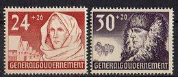 Generalgouvernement 1940 // Mi. 57,58 * - Occupation 1938-45