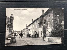 RIVIGNANO VIA UMBERTO I  1917 - Udine