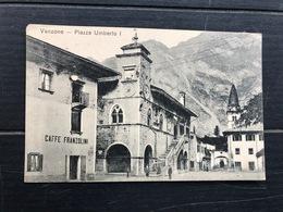 VENZONE PIAZZA UMBERTO I  CAFFE FRANZOLINI  1915 - Udine