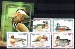 14645 Canards - Ducks - Cambodge Yv 1135-39 MNH - 4,75 (17) - Canards