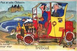 Carte à Système  :Treboul (29) Pas Si Vite Celestin   ...Voiture  Automobile ...   Ed Gaby  18  Voyagée - Tréboul
