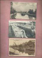 5 Cartes Divers  - Péniche , Péniches - La Fère - Tergnier - Beaurieux - St Gobain - Origny Ste Benoîte - Other Municipalities