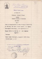 DOCUMENTO IN CARTA BOLLATA L. 1 -PARRE (BG) NOTA DI TRASCRIZIONE- A FAVORE DI  PALAMINI PIETRO  CONTRO IMBERTI PIERINA - Documenti Storici