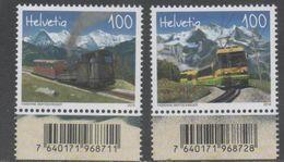 SWITZERLAND , 2018, MNH, TRAINS, SCHYNIGE PLATTE AND WENGERNALP RAILWAY, MOUNTAINS, 2v - Trains
