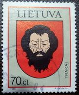 LITHUANIA , Lietuva 1998  Town Arms LOGO  TRAKAI  Used (0) - Lithuania