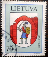 LITHUANIA , Lietuva 1998  Town Arms LOGO KERNAVE  Used (0) - Lithuania
