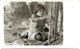 Amerique Sud Tribu Indienne Femme Tout En Tissant Seins Nus Nues Vintage Photo - Süd-, Ost-, Westafrika