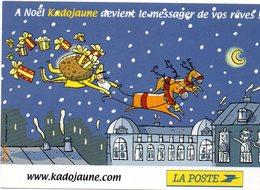 CPM   -  PTT  -  Facteur Et Père Noel- Neuve - Poste & Facteurs