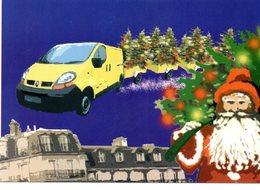 CPM   -  Poste Et Père Noel- Neuve - Poste & Facteurs