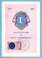 Carte Maximum 1967 - 50ème Anniversaire Lions International - YT 1534 - Paris - 1960-69