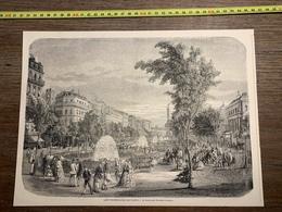 1870 MI GRAVURE PROMENADES DE PARIS BOULEVARD RICHARD LENOIR - Vieux Papiers