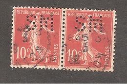 Perforé/perfin/lochung France No 138 SM Papeterie Du Marais Et De Ste Marie - Perfins