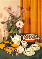 Hartelijk Gefeliciteerd Tea Present Flowers In Vase Postcard - Gruss Aus.../ Grüsse Aus...