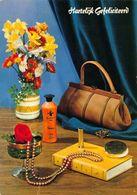 Hartelijk Gefeliciteerd Purse Flowers In Vase Book Postcard - Gruss Aus.../ Grüsse Aus...