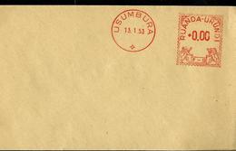 Marque Rouge Sur Lettre : 13/01/53  Usumbura    + Timbre à 00,00  F - 9 - Ruanda-Urundi