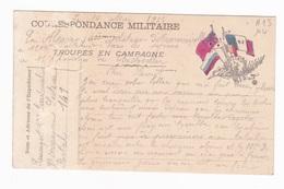 Carte En Franchise Militaire - Faisceau De 5 Drapeaux - Défauts Voir Scan - Storia Postale