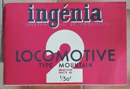 Ingenia Maquette Carton Locomotive Type Mountain - Carton / Lasercut
