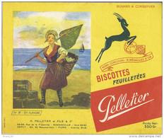 Buvard Biscottes Pelletier, En Flandres, Pêche à Pied, N°39 - Biscottes