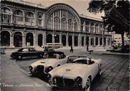 """0832 """"TORINO STAZIONE PORTA NUOVA - AUTO LANCIA -FIAT ANNI 50  CART. ORIG. - Stazione Porta Nuova"""
