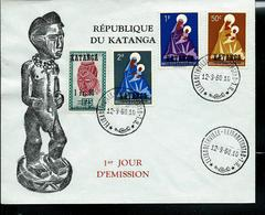 FDC Des N° 1/3 Obl. Elisabethville 12/09/60 - Katanga