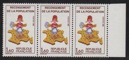N°2202a - Variete Sans Le 7 Sur La Corse Au Milieu D'une Bande De 3 - ** Neufs Sans Charniere - Cote + 16.80€ - Neufs