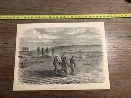1870 MI GRAVURE LA GUERRE LE TRANSPORT DES MORTS - Verzamelingen