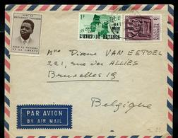 Lettre Avec Vignette: Tshombé + N° 42 Et 61  Obl. Elisabethville Pour Bruxelles 19 - Katanga