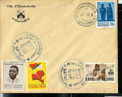 Lettre Avec Vignette: Tshombé + Le Katanga Vaincra + N° 54 Et  40 Obl. 01/03/61 - Katanga