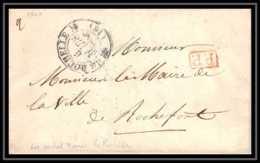 0282 Charente-Maritime Marque Postale - Mairie La Rochelle 6/3/1840 Port Payé Pour ROCHEFORT LAC Lettre Cover France - 1801-1848: Précurseurs XIX