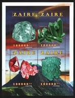 Kongo-Zaire 1996 - Mi-Nr. 1135-1138 ** - MNH - KLB - Mineralien / Minerals - Zaire