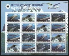 BAT / Brit. Antarktis 2003 - Mi-Nr. 353-356 ** - MNH - KLB - Wale / Whales (I) - Ungebraucht