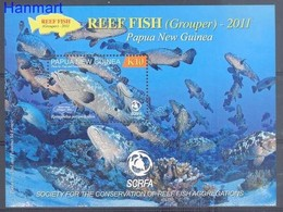 Papua New Guinea 2011 Mi Bl 131 MNH ( ZS7 PNGbl131dav37C ) - Fishes