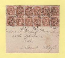 Type Blanc - Avranches - Manche - 27-10-1925 - Devant De Lettre - Marcophilie (Lettres)