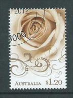 Australia 2012 $1.20 Rose Precious Moments / Greetings Single VFU Melbourne CTO - 2010-... Elizabeth II