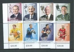 Australia 2012 Footballers Set Of 8 As 4 Joined Pairs MNH - 2010-... Elizabeth II