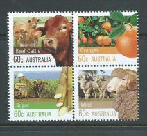 Australia 2012 Farming 60c Se-tenant Block Of 4 MNH - 2010-... Elizabeth II