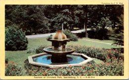 South Carolina Spartanburg Cleveland Park Fountain Dexter Press - Spartanburg